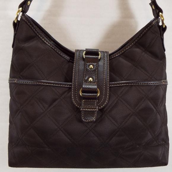107ddc2385fe Brown Quilted Women s Shoulder Handbag Purse Hobo